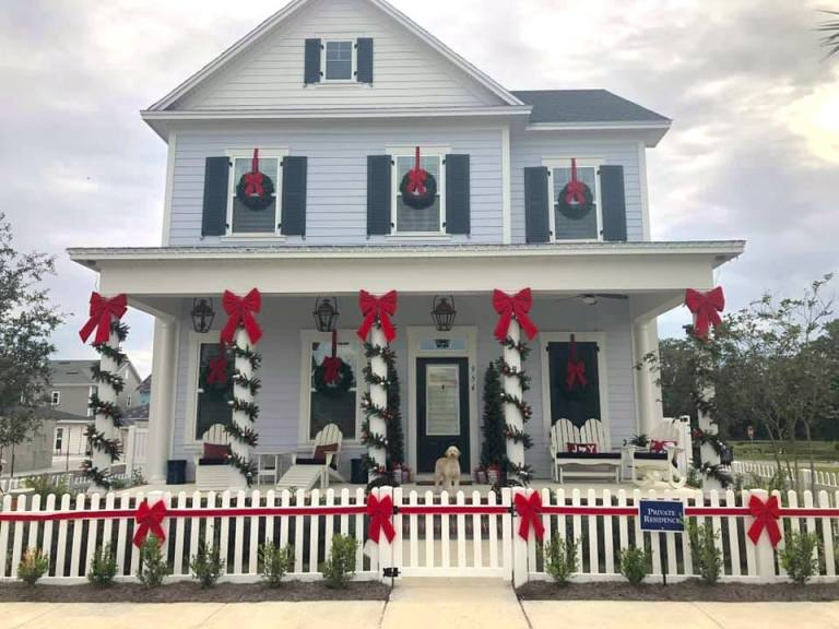 Decorated Home in Oakland Park with Cute Dog