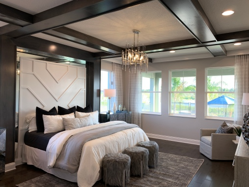 Exquisite Master Bedroom of the Model Home at Sanctuary at Twin Waters